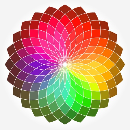 scroll wheel: Color flower vector wheel