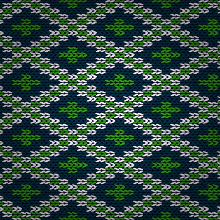 grating: Seamless Knitted Pattern. Style Knit woolen jacquard ornament texture. Fabric color tracery background