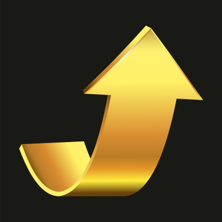 Gold arrow Vector