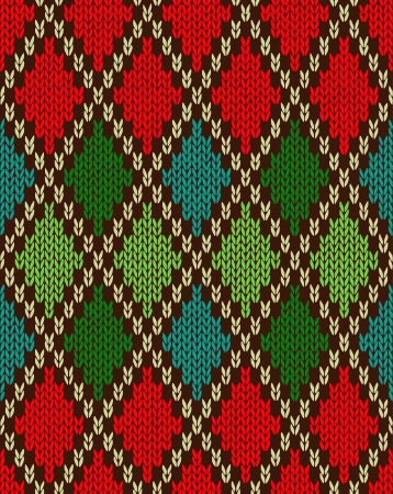woolen: Seamless Christmas Knitted Pattern  Style Knit woolen jacquard ornament texture  Fabric color tracery background
