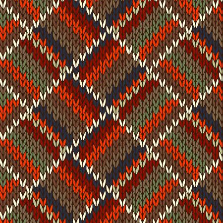 cotton wool: Seamless Knitted Pattern Illustration