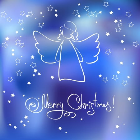 Christmas Card with Angel  Stock Vector - 24569066