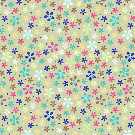 spacey: Flower seamless color pattern