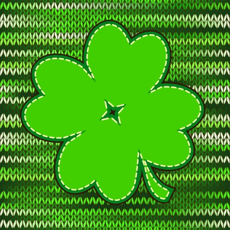 luck of the irish: Four leaf clover textile label