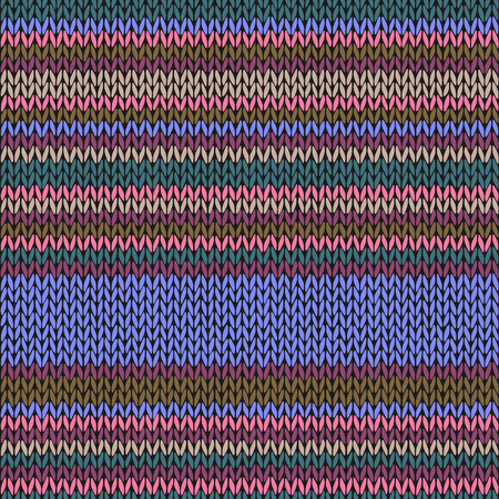 fancywork: Seamless Ethnic Color Striped Knitted Pattern