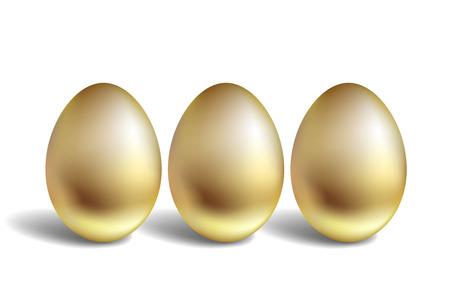 Gold Eggs Illustration