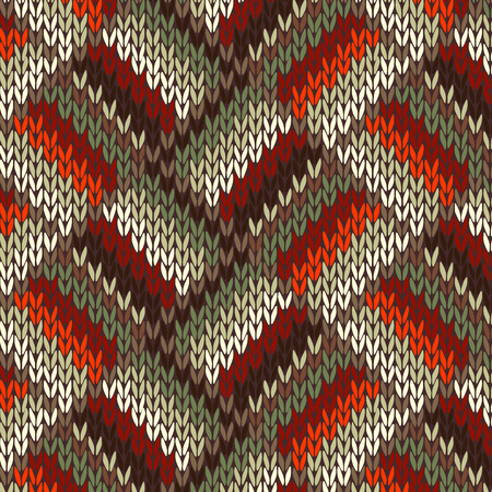 Seamless Knitted Pattern Illustration