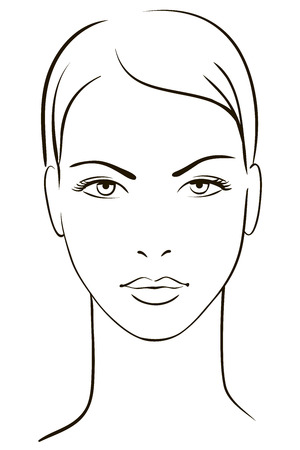 white lines: Volto di donna giovane