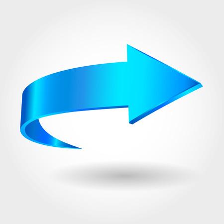 青色の矢印  イラスト・ベクター素材