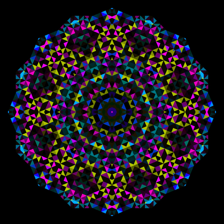 Abstract Flower. Creative Colorful style vector wheel. Cyan Magenta Yellow Black Dominant Color Vector