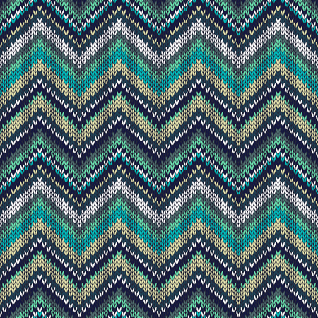 Style Seamless Knitted Pattern. Fashion Color Swatch  Vector