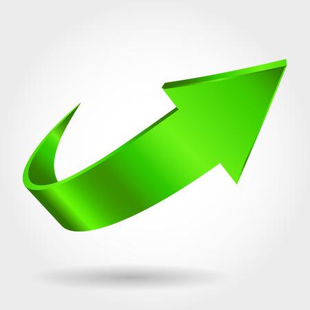 Green arrow Vettoriali