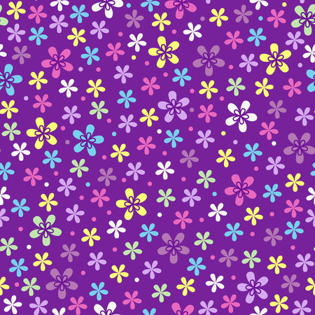 effortless: Flower seamless color pattern