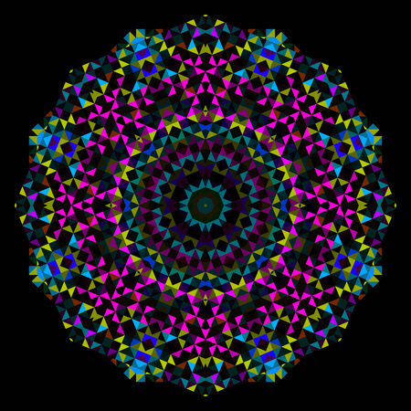 dominant color: Abstract Flower Cyan Magenta Yellow Black Dominant Color