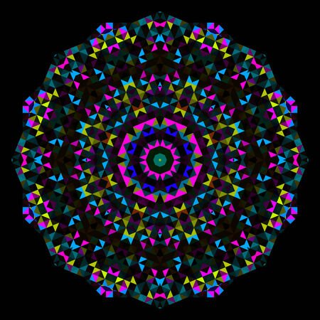 dominant: Abstract Flower. Creative Colorful style vector wheel. Cyan Magenta Yellow Black Dominant Color
