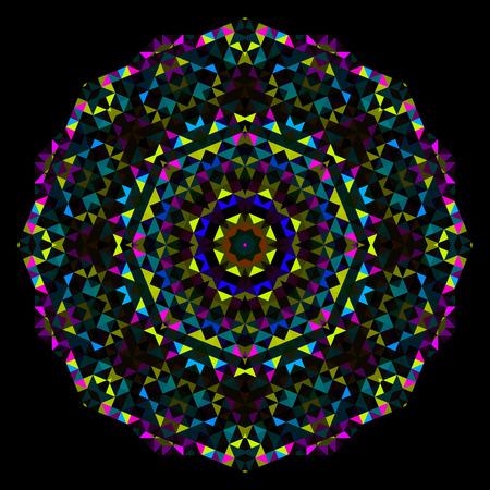 dominant color: Cyan Magenta Yellow Black Dominant Color Illustration