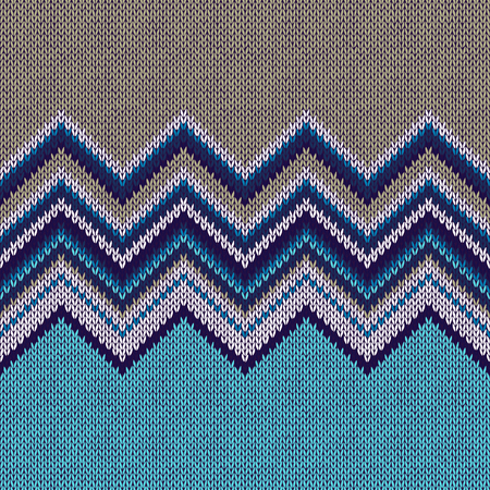 color swatch: Fashion Color Swatch. Style Horizontally Seamless Knitted Pattern  Illustration