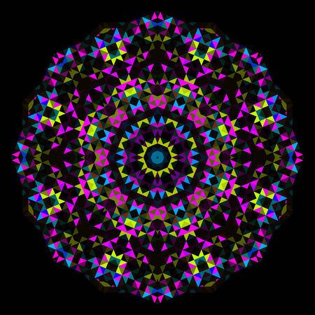 Abstract Flower. Creative Colorful style wheel. Cyan Magenta Yellow Black Dominant Color Vector