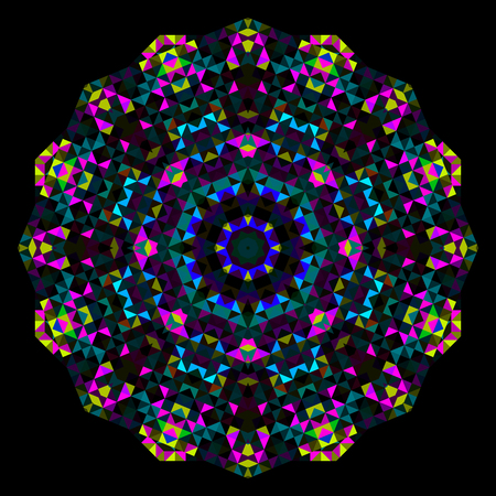 dominant color: Abstract Flower. Creative Colorful style wheel. Cyan Magenta Yellow Black Dominant Color