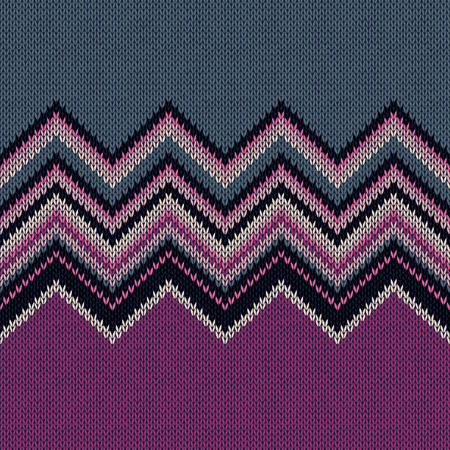 horizontally: Fashion Color Swatch. Style Horizontally Seamless Knitted Pattern  Illustration