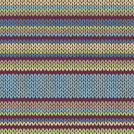cotton wool: Seamless Color Striped Knitted Pattern