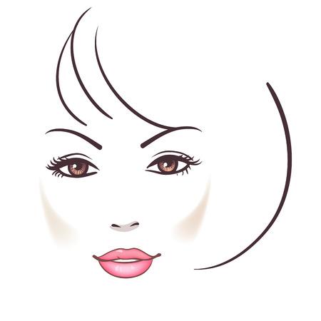Beau visage de femme Banque d'images - 28129112