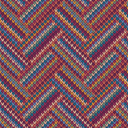 cotton wool: Multicolored Seamless Knitted Pattern Illustration
