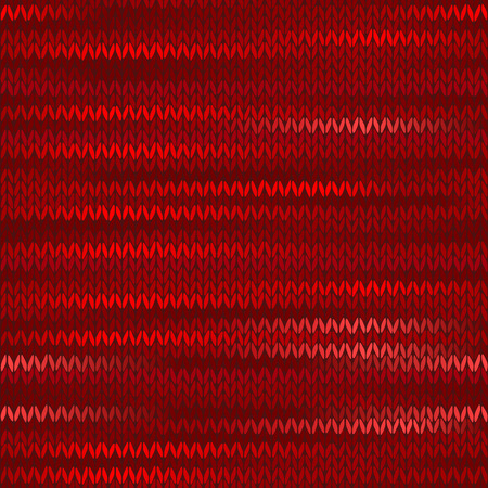 stockinet: Style Seamless Knitted Melange Pattern. Red Color Vector Illustration Illustration