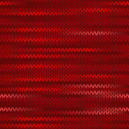 stockinet: Style Seamless Knitted Melange Pattern. Red Color Vector Illustration Illustration