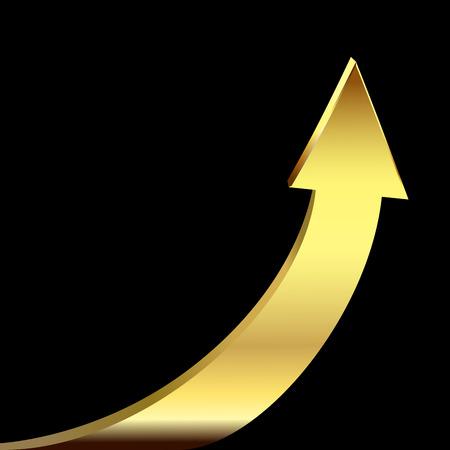Gold arrow Stock Illustratie