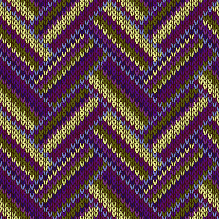 bundle: Multicolored Seamless Spring Knitted Pattern. Green Blue Red Lilac Color Swatch