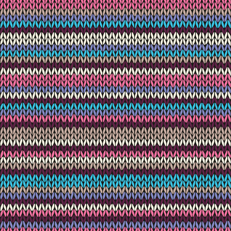 fancywork: Seamless Color Striped Knitted Pattern