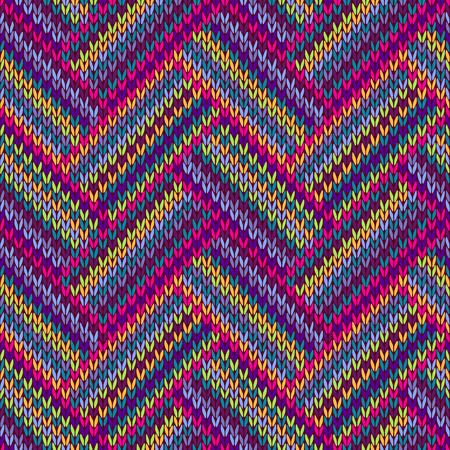 Multicolored Seamless Funny Knitted Pattern