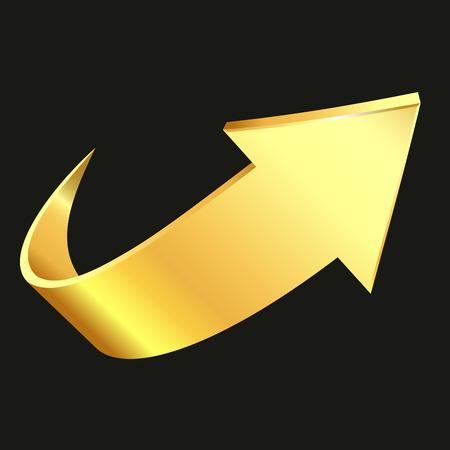 Gold arrow Illustration