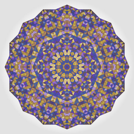 dominant color: Abstract Flower. Creative Colorful style vector wheel. Lilac Violet Brown Yellow Blue White Black Dominant Color