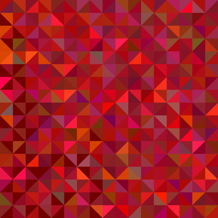 Red Geometric Background. Vector Mosaic Pattern Vector