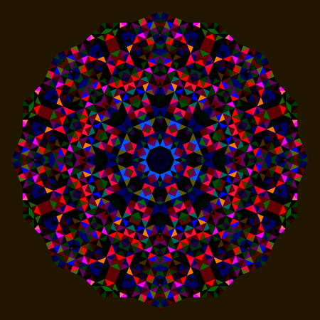 dominant: Abstract Flower. Creative Colorful style vector wheel. Red Blue Green Black Dominant Color Illustration
