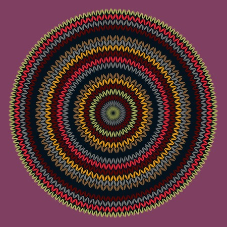 Style Circle Simple Color Needlework Background