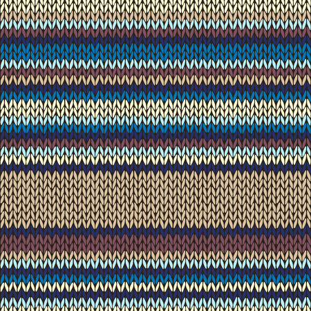 fancywork: Knitted Seamless Color Striped Pattern