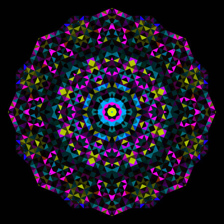 pink and black: Abstract Flower. Creative Colorful style wheel Illustration