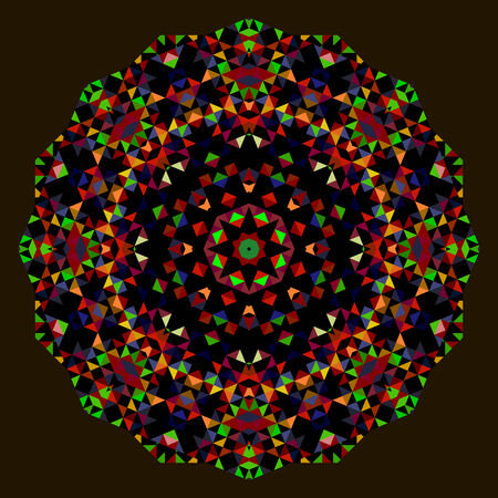 dominant color: Abstract Flower. Creative Colorful style vector wheel. Red Green Blue Orange Black Dominant Color Illustration