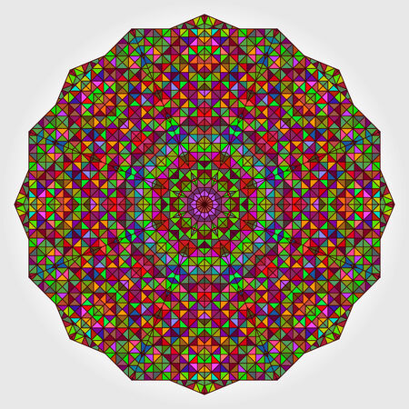 dominant color: Abstract Flower. Creative Colorful style vector wheel. Red Orange Blue Green Dominant Color