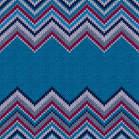horizontally: Fashion Fabric Color Swatch. Style Horizontally Seamless Textile Knitted Pattern