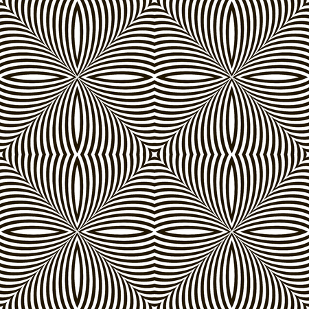 flickering: Black and White Geometric Vector Shimmering Optical Illusion. Modern Flickering Effect. Op Art Design Illustration