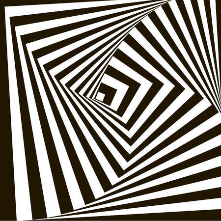 optical illusion: Geometric Vector Pattern