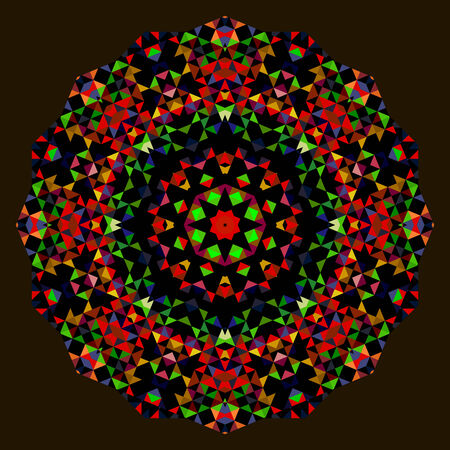 dominant: Abstract Round Background. Creative Colorful style vector wheel. Red Green Blue Orange Black Dominant Color Illustration