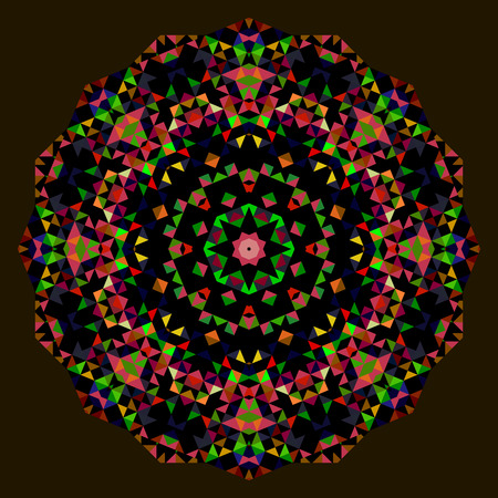 dominant color: Digital Mosaic Circle. Creative Colorful style vector wheel. Red Green Blue Orange Black Dominant Color