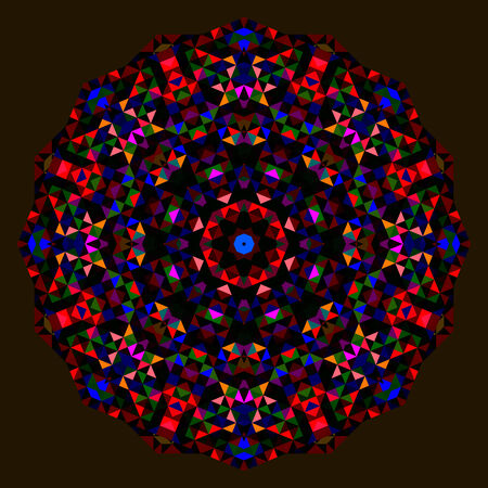 dominant color: Abstract Flower. Creative Colorful style wheel. Red Orange Blue Green Black Dominant Color Illustration