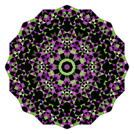 dominant color: Abstract Flower. Creative Colorful style wheel. Lilac Violet Green Pink White Black Dominant Color