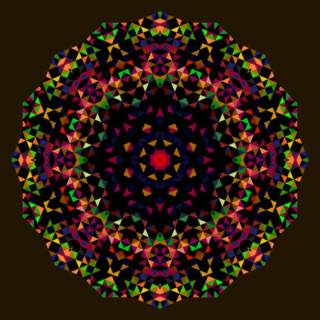 dominant color: Abstract Flower. Creative Colorful style wheel. Red Green Blue Orange Black Dominant Color